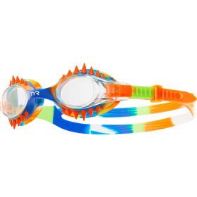 TYR Swimple Spikes Tie Dye Goggles Kids Clear/Orange